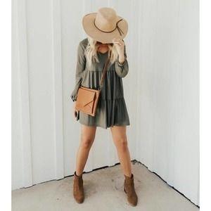Carly Jean Blaine Long Sleeve Babydoll Dress NWT